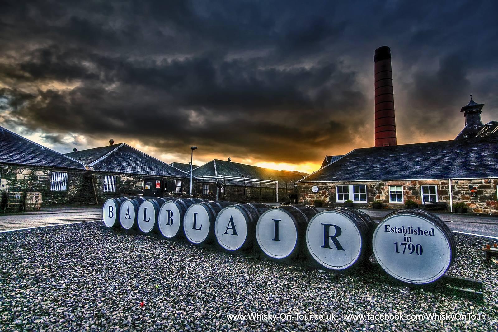 Balblair Distillery in the Scottish Highlands